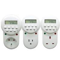 EU US UK Plug 220v-230V Timer in Switch Socket Digital LCD Power Timer Energy-Saving Programmable Timing Socket