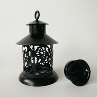 D8.5XH14CM Black Bougies Titulaires de table en métal Centres de centre de la maison Décor à la maison pour Larthing religieux de Tealight