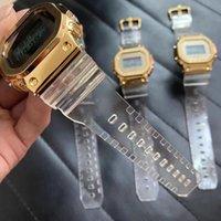 레저 스포츠 쿼츠 5600 남자 시계 DZ7333 고품질 투명 방수 Shockproof 세계 시간