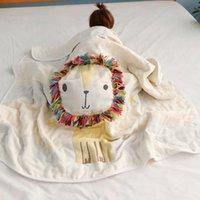 Blankets Bath Towel Gauze Blanket All Cotton Children 6-layer Jacquard Fashion Cartoon Animal Sleeping