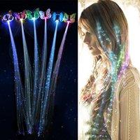 LED yanıp sönen saç örgü parlayan lüminesans firkete novetly süs kızlar oyuncaklar parti noel hediyesi