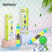 RGB 라이트 정통 VAPMOD QD26 일회용 장치 키트 전자 담배 한 시스템에서 모두 2000 퍼프 배터리 6.0ml 프리 쿼리 카트리지 포드 조명 vape 스틱 펜