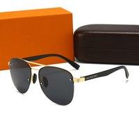 20 اللون مع مربع فاخر-جودة عالية كلاسيكي الطيار l شمسي مصمم ماركة إمرأة نظارات الشمس النظارات العدسات الزجاج المعدنية gafas de sol sonnenbrillen