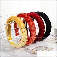 Jewelryvintage Braid Headbands Veet Fabric Hairband Hair Aessories Twist Band Women Girls Head Wear Wedding Party Jewelry Gift 850 Drop Deli