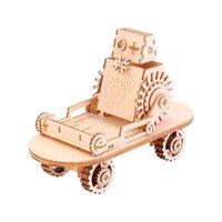 Supporto per telefoni cellulari in legno 3D Jigsaw Puzzle auto giocattolo creativo Stand multiuso per i titolari di supporti per bambini