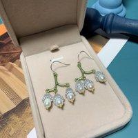 Hoop & Huggie Design Lily Of The Valley Baroque Pearl 925 Silver Needle Earrings