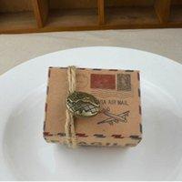 Emballage cadeau Projeto da Caixa de Correio Kraft Embalagens Papel Caixas Dos Doces Chocolat Natal Favoris Do Partidro Simpleir