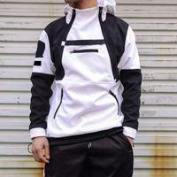 Moda Erkekler Rüzgarlık Ceketler Kapüşonlu Mont Unisex Açık Siyah Beyaz Yeşil Hip Hop Streetwear Bahar Sonbahar Spor Hoodies Nedensel Ceket M-2XL