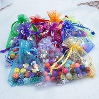Großhandel 13x18cm Weihnachten Hochzeit Voile Geschenk Tasche Schmetterling Organza Tasche Schmuck Verpackung Kordelzug Beutel Schmuck Taschen Anzeige 587 Q2