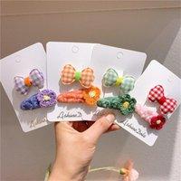 Hair Accessories Korean Style Girls Wool Flower BB Clip Fabric Plaid Bow Hairpin Baby Headdress For Women Fashion
