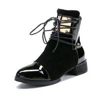 Botas mulheres genuínas sapatos de couro para botas de inverno sapatos mulher ocasional primavera couro genuíno botas mujer bootas do tornozelo feminino .xz-029