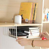 Hooks & Rails 3 Sizes Iron Desk Cabinet Sundries Storage Rack Organizer Closet Holders Hang Under Shelf Basket