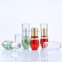 Bouteilles de stockage JARS Tube à lèvres vides 12,1 mm fluorescent vert lèvre transparent couverture emballage conteneur cosmétique 50pcs