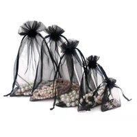 Черный цвет органзы сумки свадебный подарок обручкой сумка сумка конфеты сумки пакеты ювелирных изделий пакет