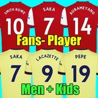 Tailândia 20 21 Camisetas de futebol do Arsenal 20 21 PEPE SAKA NICOLAS TIERNEY HENRY WILLIAN 2020 2021 Conjunto de camisetas de futebol da LACAZETTE para homens e crianças