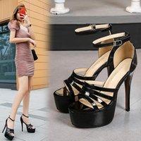 Sandals Fall 2021 Women's Stage Models Catwalk Fashion Platform Sexy Nightclub 14CM Stilettos 35-36 Size Spot