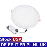 Downlight Ultra-Thin Panel Light LED Inbyggd takljus Tvåfärgad rund inbyggd installation Dimmbar belysning