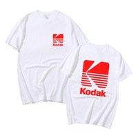 T-shirt dos homens T-shirt do logotipo da pografia de Kodak para homens da câmera da câmera retro t-shirt do vintage do vintage do vintage do pescoço de algodão