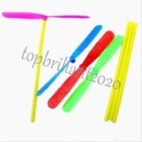 Bambú libélula helicóptero juguete volando plástico plástico al aire libre novedad niños juguetes deportes divertidos niños regalo