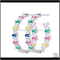 Hoop & Hie Jewelrylarrauri Cubic Zirconia Crystal Cz Dubai Earring Brincos Bijoux Fashion Iregular Geometry Trendy Stud Earrings For Women D
