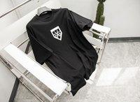 21ss Erkekler Baskılı T Shirt Paris Makas Mektuplar Baskı Giysi Kısa Kollu Erkek Gömlek Etiketi Mektup Siyah Beyaz 05