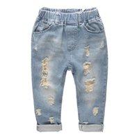 Ins Kids Ripped Denim Jeans Hosen Shorts Mode Denim Kinder Kleidung Baby Jungen Mädchen Jeans Für Kinder Marke Slim Casual Hose 751 S2