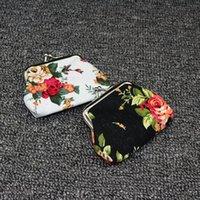 Outros Sacos domésticos Sacos De Armazenamento Moda Vintage Flor Moeda Moeda Chave Titular Chave Carteira Hasp Pequenos Presentes Saco De Embreagem Bolsa ZWL379