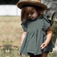 Cute Baby Girls Outfits Infant Summer Dresses Cotton PP Pants Sets Children's T-shirts Shorts 2 Pieces Suits Clothing