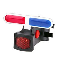 Bike Lights Bicycle Light Blue Red Dual Color Tail USB Rechargeable Warning For Mountain Road