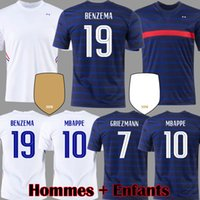 Benzema 2021 MBappe Pogba Jersey Jersey Griezmann Varane Hernandez Camisa de Futebol Pavard Kit Kante Kante Kimpembe Maillot de Foot Camavinga Rabio Infants