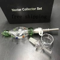 10 mm 14 mm 19mm Nectar C Kits Micro NC Glass&Stainless Steel Tip Honey Straw Mini Kit Glass Bong Hookah DHL Towel
