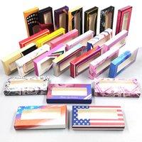 20styles Carton Paper Packing Box for 25mm EyeLash Wholesale Bulk Cheap Pretty Lashes Storage Packaging DHL free