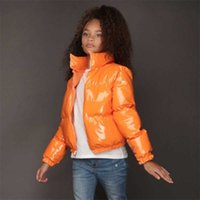 2021 Winter Warm Children's Cotton Padded Jacket Kids Candy Bright Color Boys Grils Hand Stuffed Cotton Mandarin Collar Clothes Wadded Coat Jackets G98JTIW