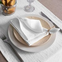 10 шт. Льняные салфетки ткань салфетки настольный ужин для свадьбы поддерживают пользовательские размеры