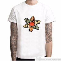 The Big Bang Teoria dos homens Camiseta Rocha Tesoura Tesoura Lagarto Spock Sheldon Cooper Tops Curto Manga T-shirt Bazinga Tee Tops YH040soccer Junse