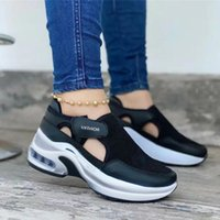 Dress Shoes Women's Sandals Vulcanized Sneakers Platform Solid Color Flats Ladies Wedges Walking Sandalias De Las Mujeres