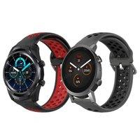 ووتش العصابات ل ticwatch e3 smartwatch سيليكون الفرقة معصمه الموالية 2021 2021 / برو 3 GPS / GTX / S2 / E2 الرياضة حزام watchband سوار