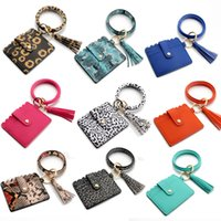 31 styles Bracelet Keychain Card Bag with Tassels Leopard Su...