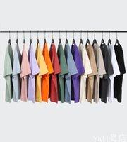 T-shirt da uomo 16 t-shirt a manica corta oversize di colore puro top o-scollo casual moda maschile abbigliamento