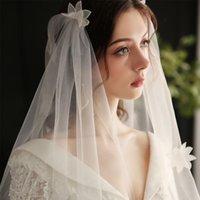 Bridal Veils Kurzschicht ohne Haarkamm Hochzeit Schleier Brigade Kopfbedeckungsgarn Weiße Zubehör Lioras D Mujer Blanca Headwear