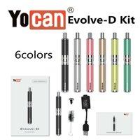Autentisk Yocan Evolve-D Kit Dry Herb Vaporizer Vape Pen Kit E Cigarett Kit Multi Färger 100% Original