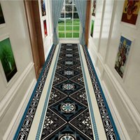 Carpets European Long Hallway Home Window Mat El Corridor Rug Kitchen Runner Rugs Anti-slip Floor Decor Aisle Bedroom