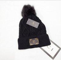Man Donne Autunno Autunno Berretto invernale Casual Cap Ski Gorro Caldo Designer Wool Knit Cappello Cappello da cranio