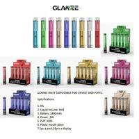 Authentic Glamee Mate Monouso Pod Dispositivo VAPE 3000 Sfuffs 1800mAh 9ml Premilled VAPOR BAR Stick Stick Pen Starter Kit 100% originale