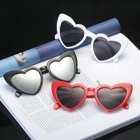 Herz Sonnenbrille Frauen Marke Designer Katze Auge Sonnenbrille Retro Liebe Geformte Dameneinkäufe Sunbrille UV400