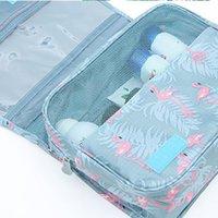 سعة كبيرة حقيبة مستحضرات التجميل للماء هوك غسل أكياس متعددة الوظائف المرأة السفر ماكياج التخزين المنظم الحقيبة أدوات الزينة FWF9038