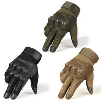 Touchscreen Hard Knuckle Taktische Handschuhe PU-Leder Combat Airsoft Outdoor Sport Radfahren Paintball Jagd Swat