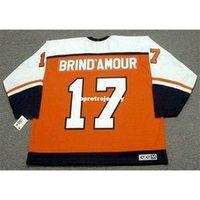 Стержень оптом Brind'amour Mens Philadelphia Flyers 1997 CCM Отель Cheap Ретро Хоккей Джерси