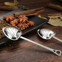 Herramienta de cocina Amor de corazón estilo de forma de acero inoxidable Infusor de té cucharadita de filtro de cucharada filtro de alta calidad 294 S2
