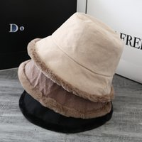 2021 Women Fall winter New Double-sided Plush Fisherman Hat Korean Fashion Thickened Warm Ear Protection Basin Hats Men Sun Shade Tide Exquisite Design
